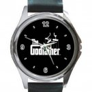 The Godfather Unisex Round Silver Metal Watch