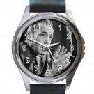 Humphrey Bogart Unisex Round Silver Metal Watch