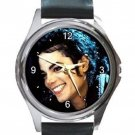 Remembering Michael Jackson Collectible Rare Photo Unisex Round Silver Metal Watch