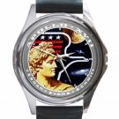 NASA APOLLO 17 LUNAR ROVER MANNED MOON Unisex Round Silver Metal Watch