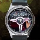 1974 Mgb Classic Car Steering Unisex Round Silver Metal Watch