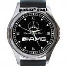NEW MERCEDES BENZ AMG Unisex Round Silver Metal Watch