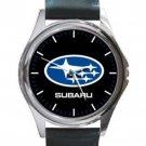 Subaru Automobile Sport Car Logo Unisex Round Silver Metal Watch