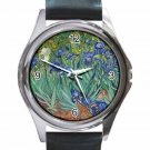 VINCENT VAN GOGH IRISES Unisex Round Silver Metal Watch