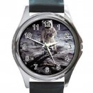 NASA Aldrin Apollo 11 Moon Walk Unisex Round Silver Metal Watch