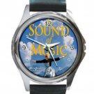 The Sound of Music Unisex Round Silver Metal Watch