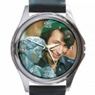 THE MONKEES MIKE NESMITH Unisex Round Silver Metal Watch