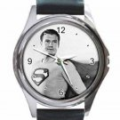 GEORGE REEVES SUPERMAN AMERICA'S HERO Unisex Round Silver Metal Watch