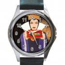 Snow White Evil Queen Unisex Round Silver Metal Watch