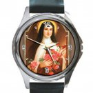 Saintly Souvenirs St. Therese of Lisieux Unisex Round Silver Metal Watch