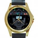 Honda 2012 Speedometer GL1800 Goldwing Unisex Round Gold Metal Watch