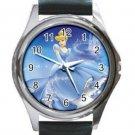 Disney Cinderella Unisex Round Silver Metal Watch