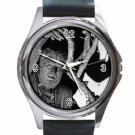 LON CHANEY THE WOLFMAN Unisex Round Silver Metal Watch