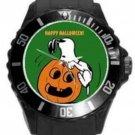 HAPPY HALLOWEEN SNOOPY Black Round Plastic Sport Watch