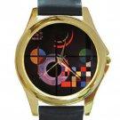 Wassily Kandinsky - Gravitation Unisex Round Gold Metal Watch