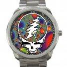 Grateful Dead - Steal Your Face - Fractal Unisex Sport Metal Watch