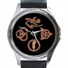 Led Zeppelin Symbols Unisex Round Silver Metal Watch