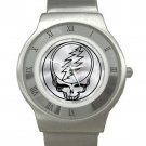 Grateful Dead - Steal Your Face - Chrome Roman Dial Unisex Ultra Slim Watch
