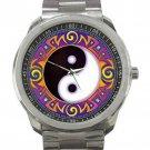 Yin Yang Tribal Unisex Sport Metal Watch