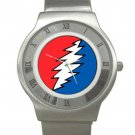 Grateful Dead - Bolt - Chrome Roman Dial Unisex Ultra Slim Watch