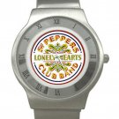 Beatles - Sgt. Pepper's Lonely Hearts Club Band - Chrome Roman Dial Unisex Ultra Slim Watch