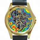 Allman Brothers Band - Fractal Unisex Round Gold Metal Watch
