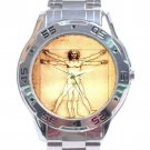 Leonardo da Vinci - Vitruvian Man Stainless Steel Analogue Watch