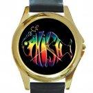 Phish Unisex Round Gold Metal Watch