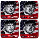 Donald Trump USA First Rubber Square Coaster (4 pack)