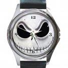Jack Skellington Nightmare Before Christmas Unisex Round Silver Metal Watch