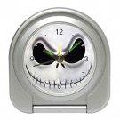Jack Skellington Nightmare Before Christmas Travel Alarm Clock- Black Or Silver