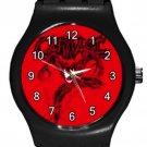 Marvel Comics Carnage Supervillain Black Round Plastic Sport Watch Medium Size
