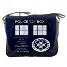 Doctor Who TARDIS Police Call Box Unisex School Messenger Bag Shoulder Notebook Travel Bags