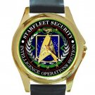 Starfleet Security Intelligence Operations Section Unisex Round Gold Metal Watch