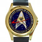 Starfleet Corps Of Engineers Unisex Round Gold Metal Watch
