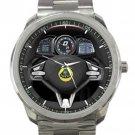 Lotus Esprit Steering Wheel Unisex Sport Metal Watch