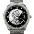 Abraham Lincoln 2009 Silver Coin Unisex Sport Metal Watch