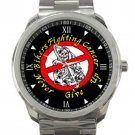 Biker Fighting Cancer Never Give Up Unisex Sport Metal Watch