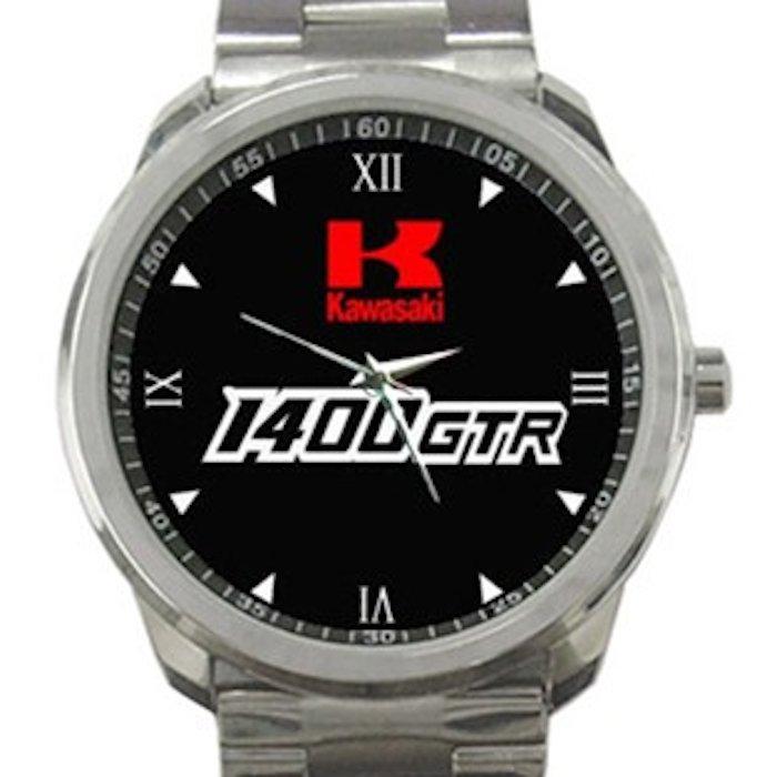 Kawasaki 1400 GTR Logo Unisex Sport Metal Watch