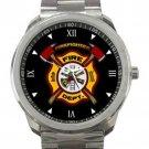 Firefighter Fire Department Logo Unisex Sport Metal Watch