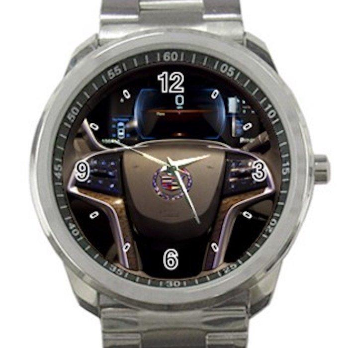 2013 Cadillac ATS Steering Wheel Unisex Sport Metal Watch