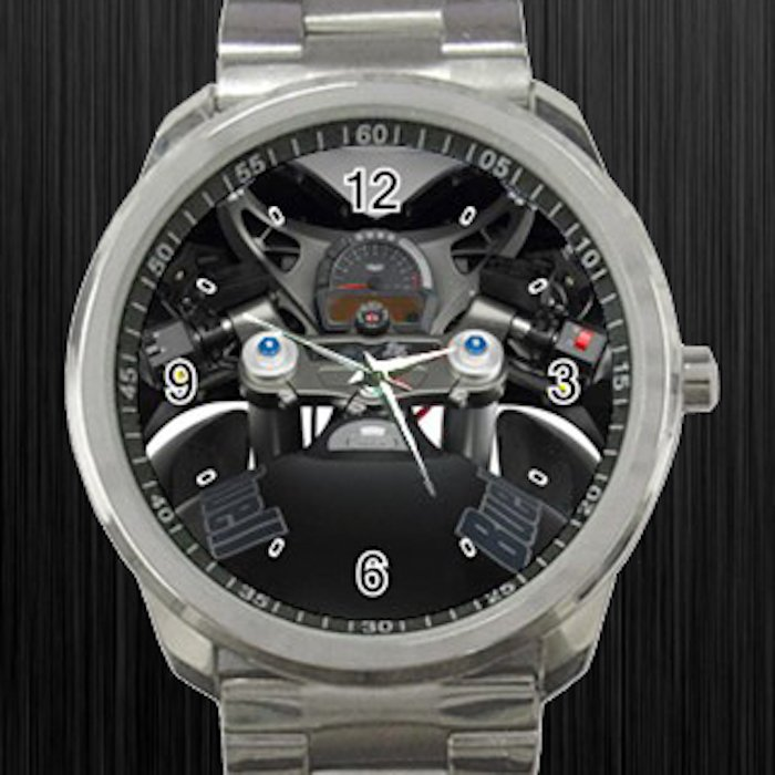 2008 Buell 1125R Cockpit Motorcycle Unisex Sport Metal Watch
