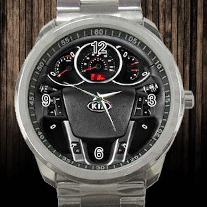 2012 KIA Sorento 2WD 4 Door V6 EX Steering Wheel Unisex Sport Metal Watch