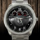 2012 Nissan Altima 2 Door Coupe I4 CVT 2.5 S Angular Steering Wheel Unisex Sport Metal Watch