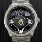 2013 Lotus Esprit Steering Wheel Unisex Sport Metal Watch