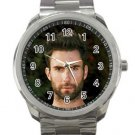 Handsome Adam Levine With Beard Unisex Sport Metal Watch