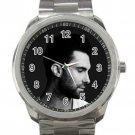 Good Looking Adam Levine With Beard Unisex Sport Metal Watch