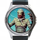 New Creature From The Black Lagoon Unisex Round Silver Metal Watch