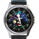 Calvin & Hobbes Starry Night Unisex Round Metal Watch-Leather Band