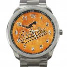 Baltimore Orioles MLB Baseball Team Unisex Sport Metal Watch